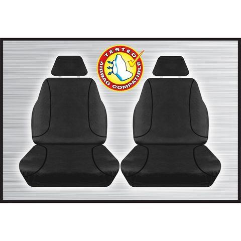 Tradies Black Front Seat Cover - Ranger BT50 Everest (pair)