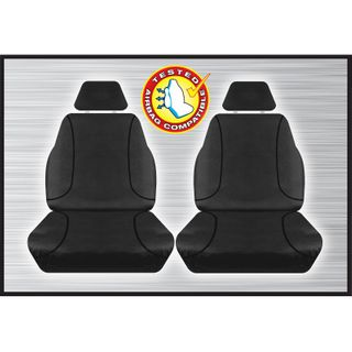 Tradies Black Front Seat Cover - Hilux 2015+ (pair)