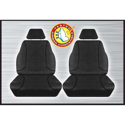 Tradies Black Front Seat Cover - Triton 2015+ (pair)