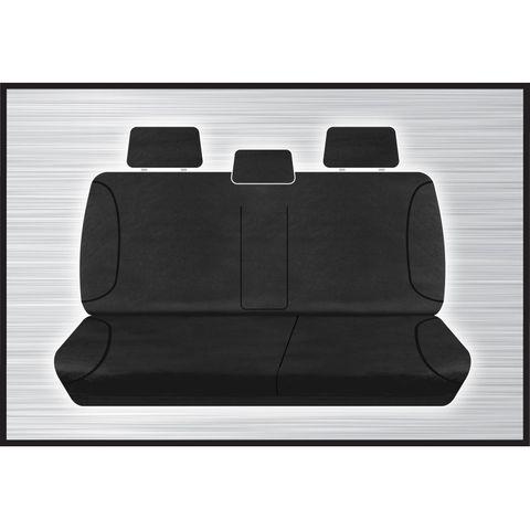Tradies Black Rear Seat Cover - D-Max