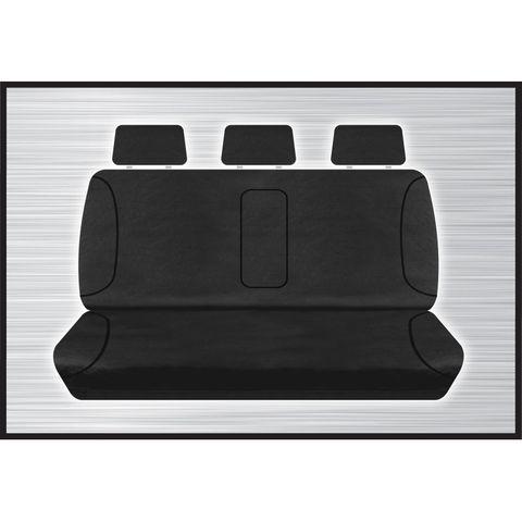 Tradies Black Rear Seat Cover - Triton 2015+