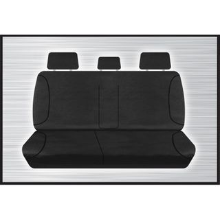Tradies Black Rear Seat Cover - Hilux 2015+