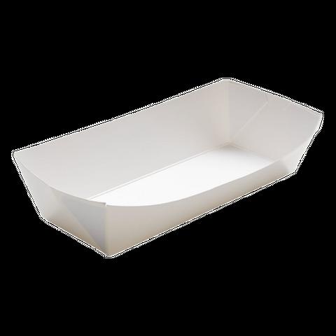Savpac 29oz White Tray H/Dog 1000pcs/ctn