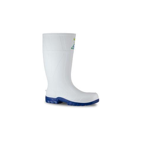 Bata Safemate PVC Gumboots White & Blue