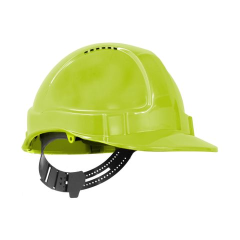 TN Hard Hat Short Peak Pin Lock Neon Y