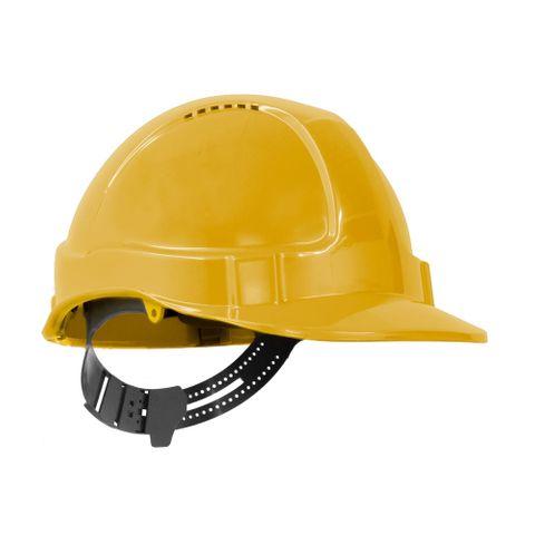 TN Hard Hat Short Peak Pin Lock Yellow