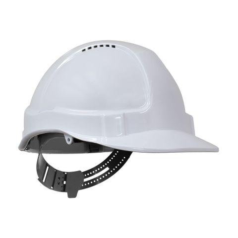 TN Hard Hat Short Peak Pin Lock White