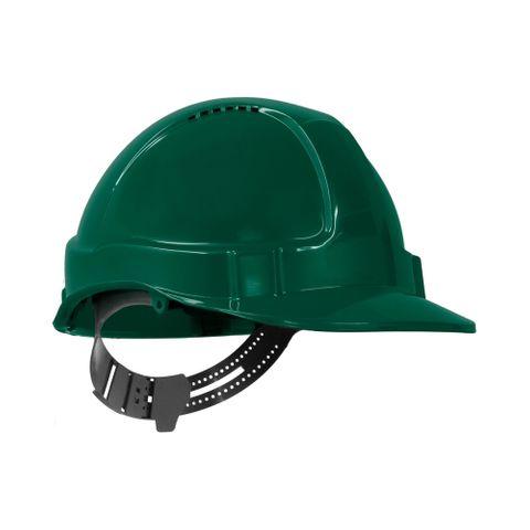 TN Hard Hat Short Peak Pin Lock Green