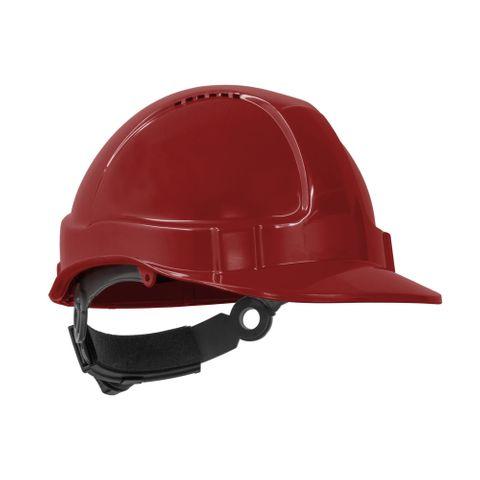 TN Hard Hat Short Peak R/Lock Red