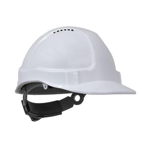 TN Hard Hat Short Peak R/Lock White