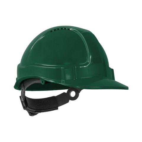 TN Hard Hat Short Peak R/Lock Green