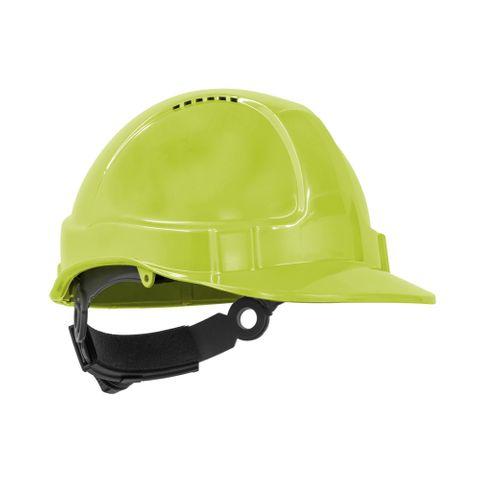 TN Hard Hat Short Peak R/Lock Neon Y