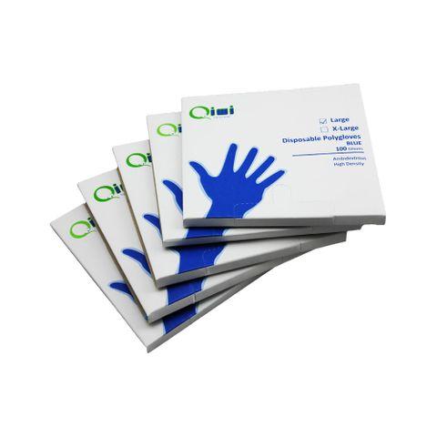 Q Blue PE Glove Large 100pk 100pkt/ctn