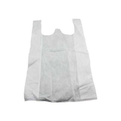 Q Medium White N/Woven Bag 500pcs/ctn