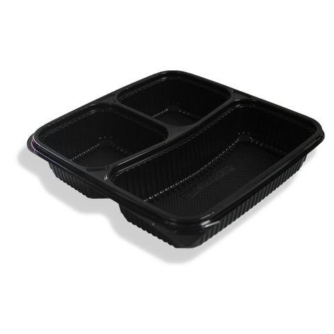 Q PP 3 Comp Container Black 300pcs/ctn