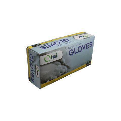 Q Blue Vinyl Gloves PF XLarge 10pk/ctn