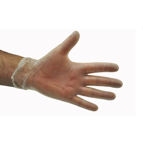 302L Clear Vinyl Glove PF Large 10pk/ctn