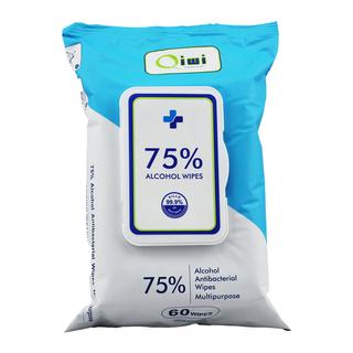 Q 75% Alcohol Wipes 60's 12pk/ctn