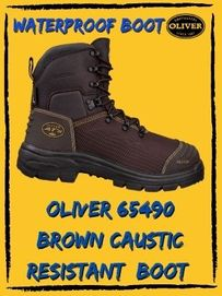 Oliver 65490 Brown Caustic Resistance Safety Boot