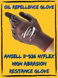 ansell 11-926 hyflex high abrasion resistance glove