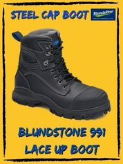 Blundstone 991 Steel Cap Lace Up Boot