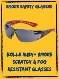 bolle rush plus smoke fog resistant glasses