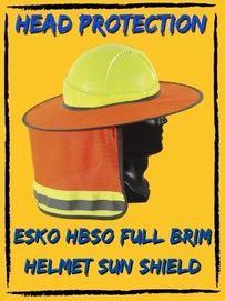 Esko HBSO Full Brim Sun Shield Hard Hat