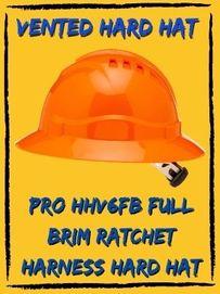 pro hhv6fb full brim ratchet harness hard hat