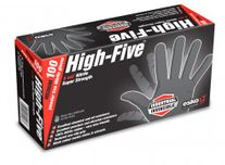 GLOVES HIGH FIVE BLACK DISPOSABLE NITRILE BX 100