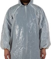DISPOSABLE SELFGUARD PONCHO HOODED WH 1500X900 BOX