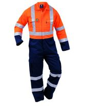 WORKWEAR PROTEX OVERALL FLAME RETARDANT WITH TAPE FTPCO (102)