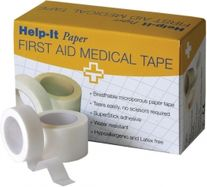 FIRST AID HELP-IT PAPER TAPE ROLL 2.5CM X 9.1M EA