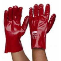GLOVES PARAMOUNT PVC RED 27CM PAIR