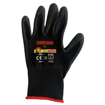 GLOVES ARMOURWEAR NITRILE FOAM PCOAT BLACK SZ 7 PAIR