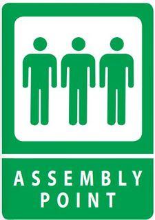 SIGN QSI ASSEMBLY POINT PVC 240mm x 340mm EA