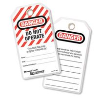 LOCKOUT TAGS DO NOT OPERATE W/METAL RING PK24