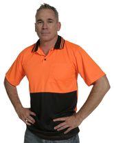 WORKWEAR SAFE-T-TEC V50 SHIRT S/S HI VIS OR/NA