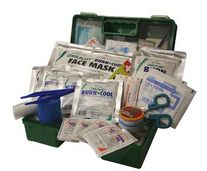 FIRST AID QSI COMMERCIAL BURNS KIT PLASTIC BOX
