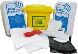 ENVIRONMENTAL QSI  SPILL KIT 240L OIL HYDROCARBON W WHEELIE BIN