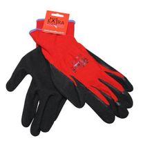 GLOVES SAFE-T-TEC LATEX RED BLACK FOAM PAIR