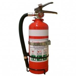 FIRE SAFETY PSL FLAMEFIGHTER 1.5KG ABE FIRE EXTINGUISHER C/W VEHICLE BRACKET EA
