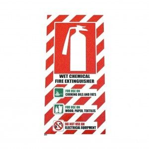 SIGN PSL FIRE EXTINGUISHER BLAZON WET CHEMICAL PVC EA