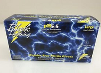 GLOVES KBS BLACK NITRILE DISPOSABLE BOX 100