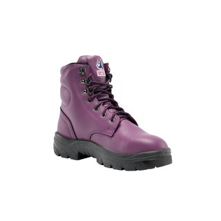 BOOT STEEL BLUE ARGYLE PURPLE BOOT LADIES AUS SIZE