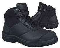 BOOT OLIVER 34 SERIES ZIP SIDE LACE UP BOOT BLACK PAIR
