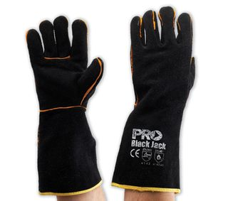 GLOVES WELDING - BLACK AND GOLD