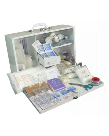 FIRST AID KIT INDUSTRIAL 1-50 METAL BOX WITH CONTENTS