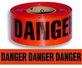 TAPE POLYMARK RED DANGER 100MM X 300M