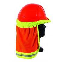 CLOTHING HI-VIS HARD HAT ELASTIC SUN SHIELD ORANGE/YELLOW EDGING