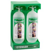 FIRST AID TOBIN MOBILE STAND 2 x 1L EYEWASH BOTTLES